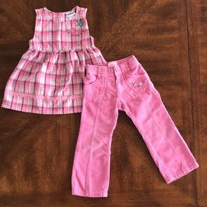 OshKosh B'gosh Girl's Pink Top and Pants Set 3T